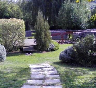 Pas japonais Aménagement du jardin Saint-Satur