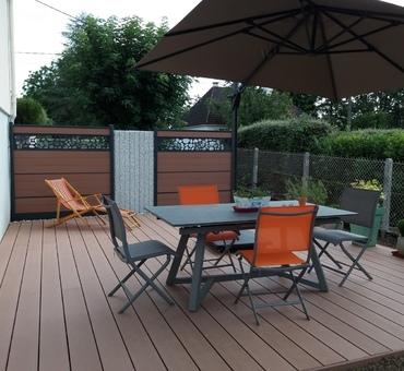 Terrasse en composite, panneaux occultants en composite Pougues-les-Eaux